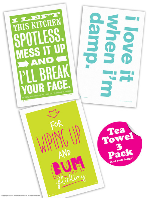 3 Pack Of Tea Towels 2