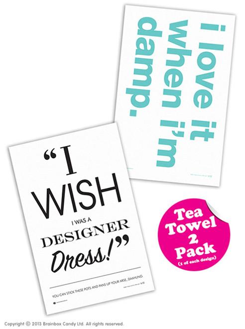 2 Pack Of Tea Towels
