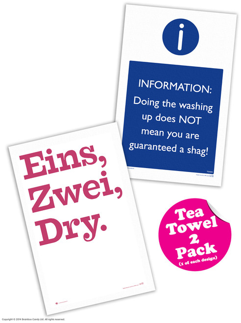 Pack Of 2 Tea Towels