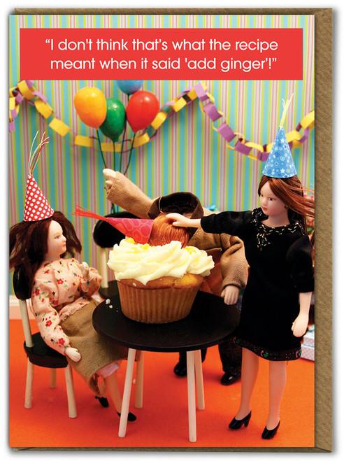 Ginger Cake Birthday Card