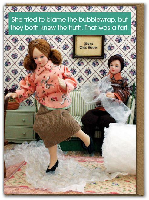 Bubblewrap Fart Birthday Card
