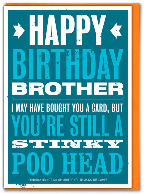 Stinky Poo Head Brother Birthday Card