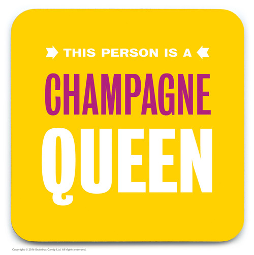 Champagne Queen Coaster