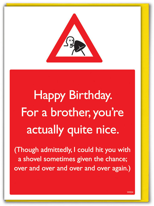 Over & Over Brother Birthday Card