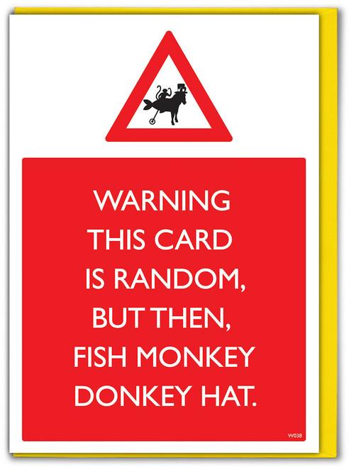 Fish Monkey Donkey Hat Birthday Card