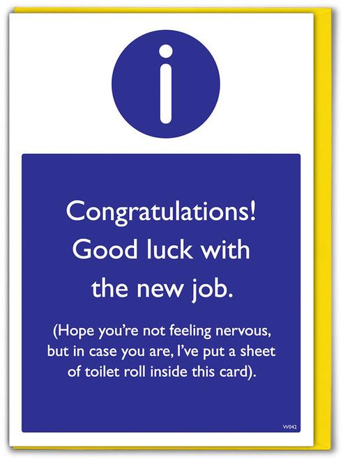 New Job Toilet Roll Greeting Card
