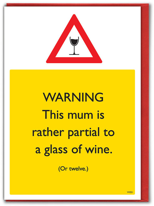 Mum Partial To Wine Mother's DayCard