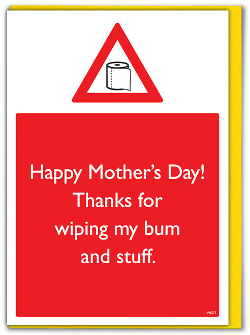 Wiping Bum Mother's Day Mother's Day Card