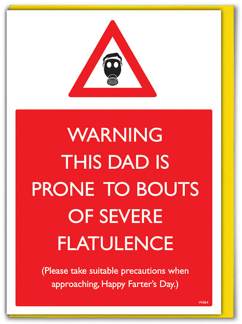 Fathers Day Severe Flatulence Card