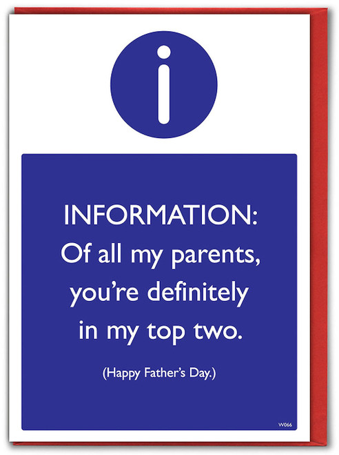 Top Two Parents Father's Day Greeting Card (W066)