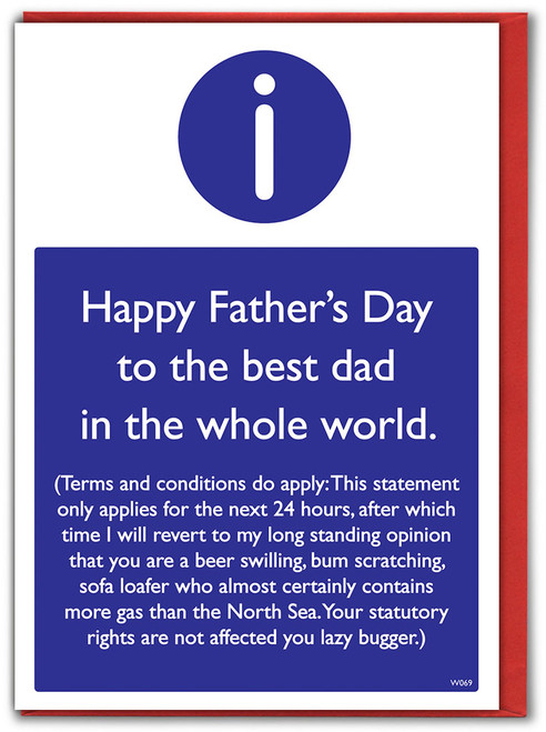 Father's Day T&Cs Greeting Card
