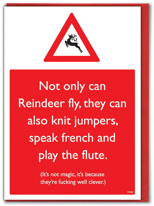 Clever Reindeer Christmas Card