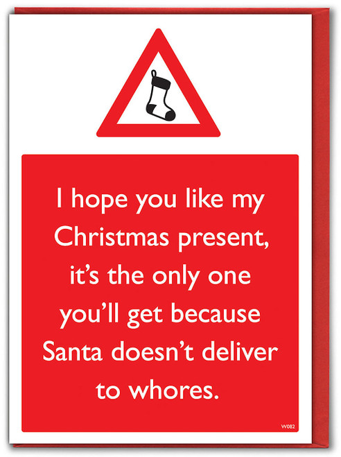 Santa Doesn't Deliver Christmas Card