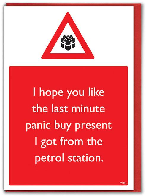 Panic Buy Present Christmas Card