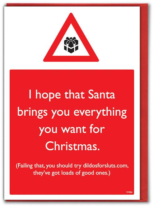 Massive Dildos Christmas Card