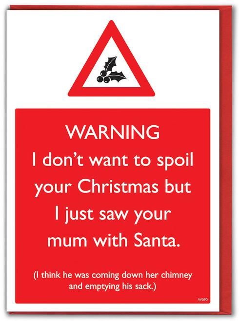 Mum With Santa Christmas Card