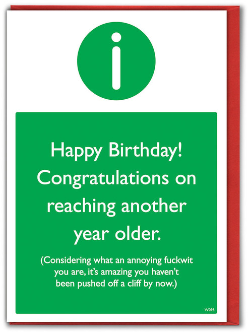 Pushed Off Cliff Birthday Card