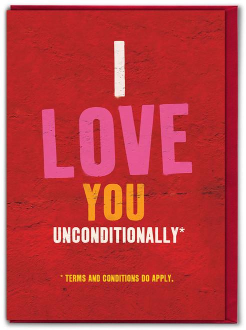 Unconditional Love Valentine's Day Card