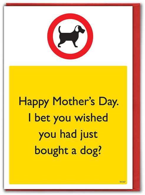 Wishing Bought Dog Mother's Day Card