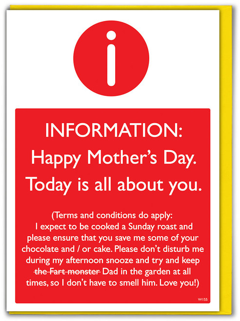 Mother's Day T&Cs Mother's Day Card