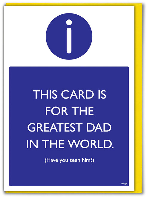 Greatest Dad Father's Day Card