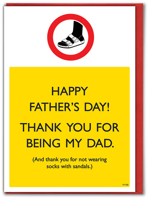 Sandals And Socks Father's Day Card