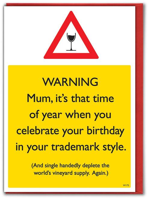 World's Wine Reserve Mum Birthday Card