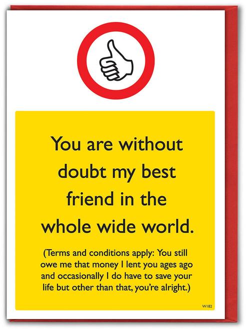 Best Friend Whole World Birthday Card