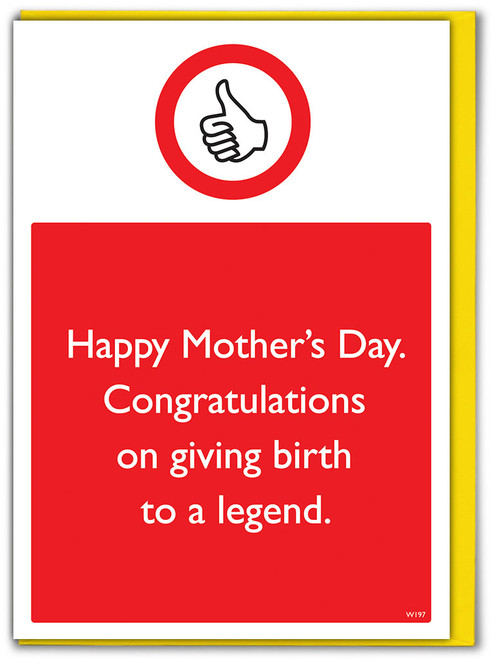 Give Birth To A Legend Mother's Day Birthday Card