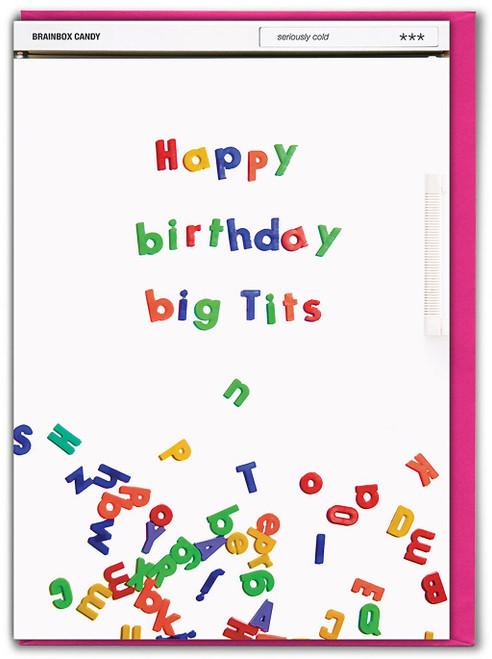 Happy Birthday Big Tits Birthday Card