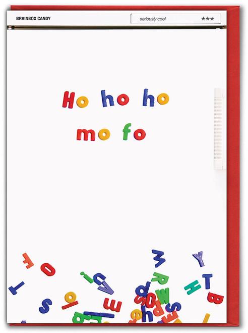 Ho Ho Ho Mo Fo Christmas Card
