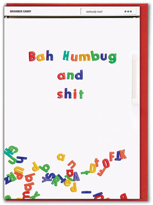 Bah Humbug And Shit Christmas Card