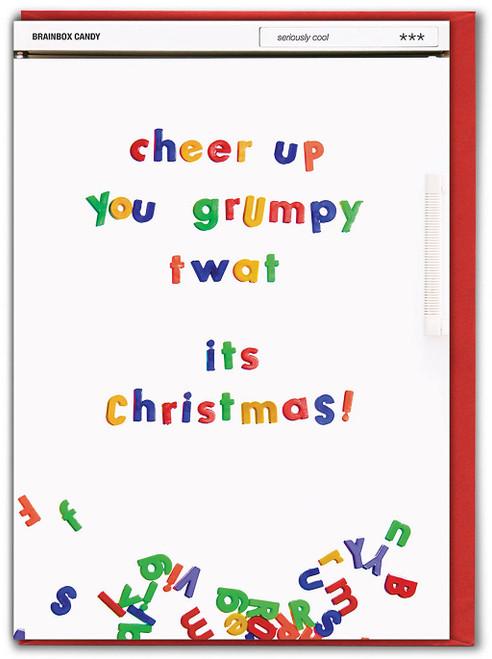 Cheer Up Grumpy Twat Christmas Card