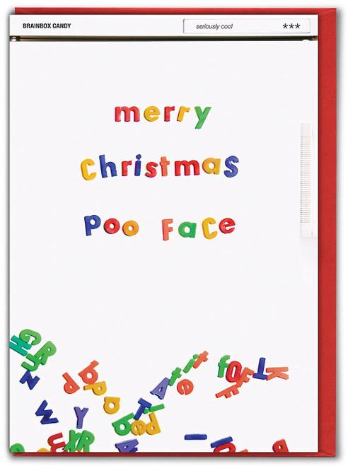 Poo Face Christmas Card