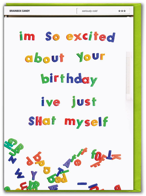 Excited About Birthday Birthday Card