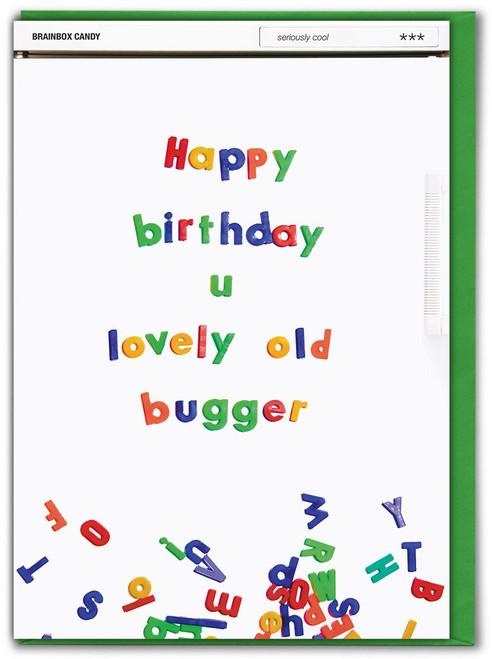 Lovely Old Bugger Birthday Card
