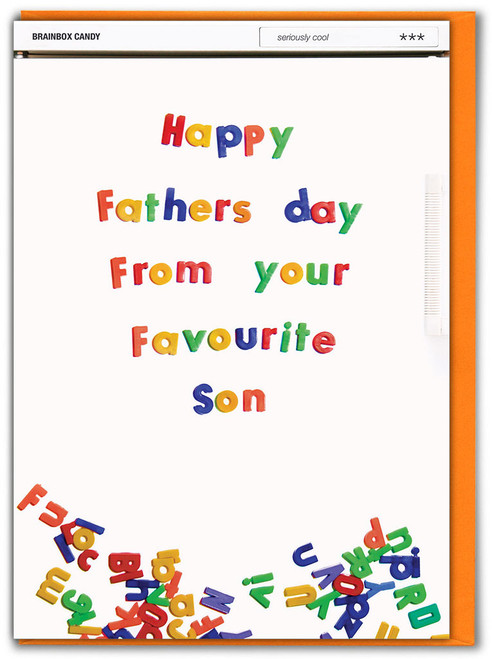 Favourite Son Father's Day Card