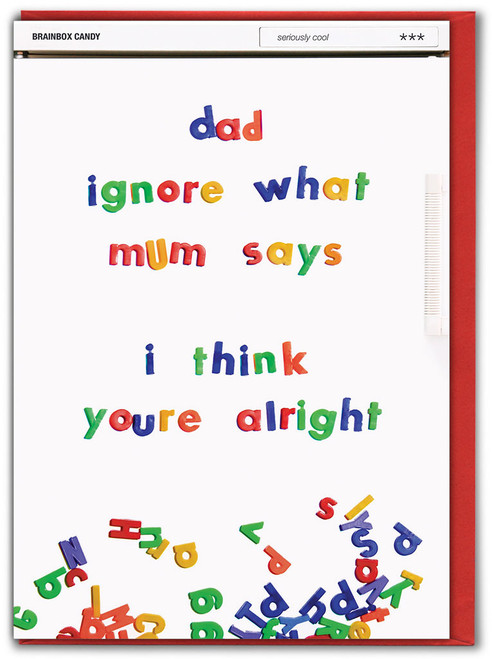 Ignore What Mum Says Father's Day Card