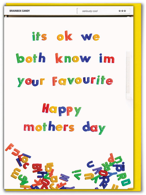 Know I'm Favourite Mother's Day Card