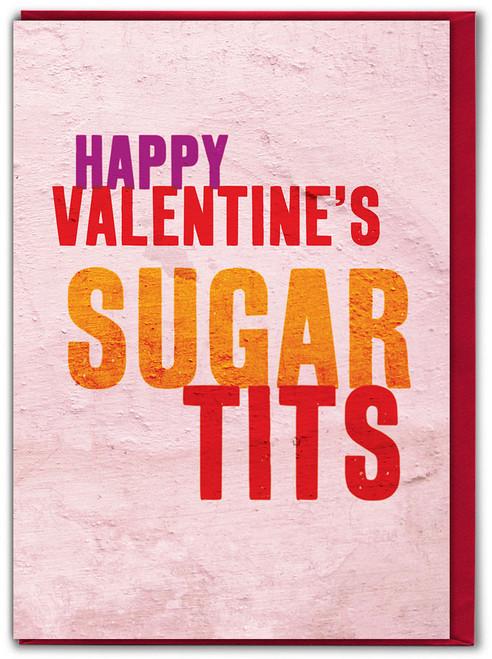 Sugar Tits Valentine's Day Card