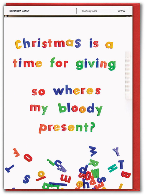 Time For Giving Present Christmas Card