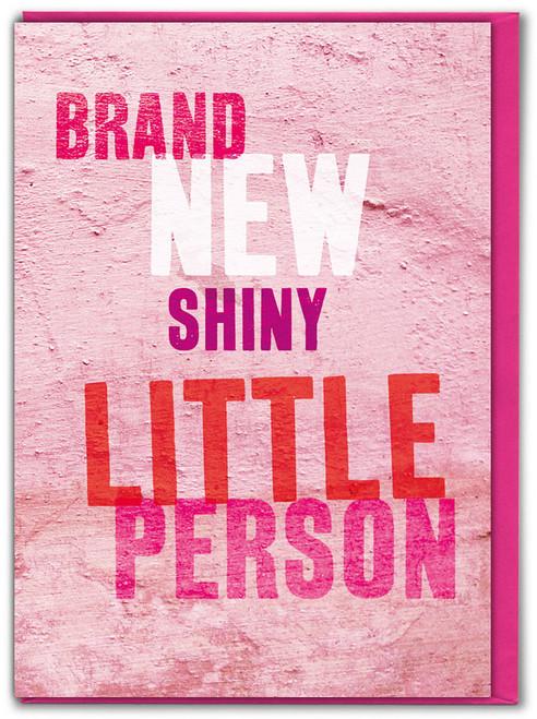 Brand New Little Girl New Baby Card