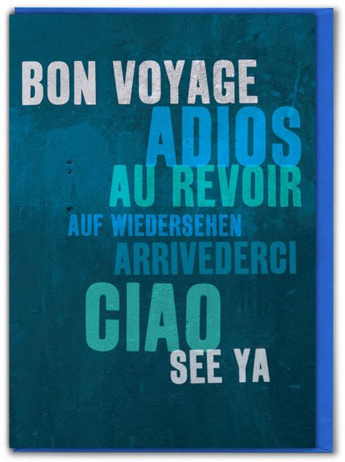 Bon Voyage Leaving Card