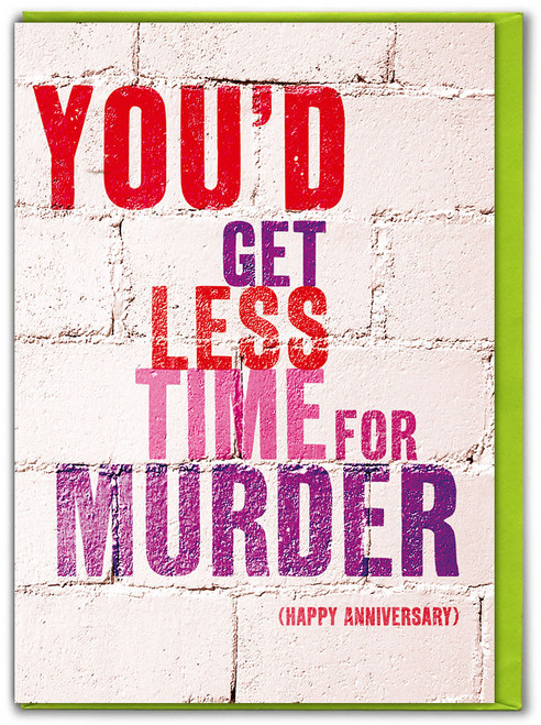 Less Time For Murder Anniversary Card
