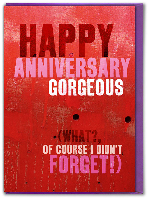 Happy Anniversary Gorgeous Card