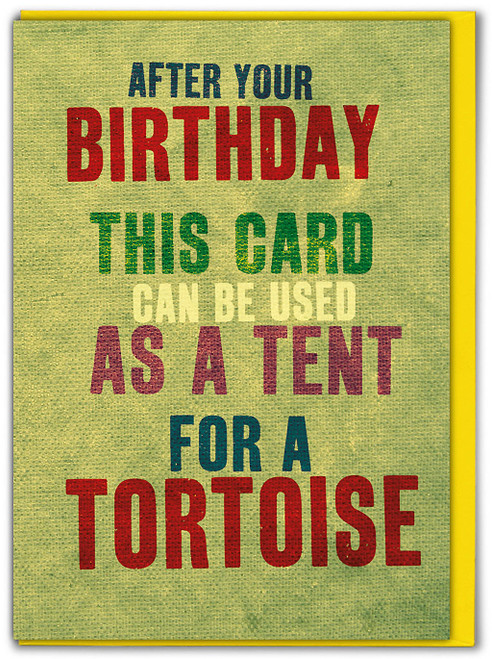 Tortoise Tent Greeting Card