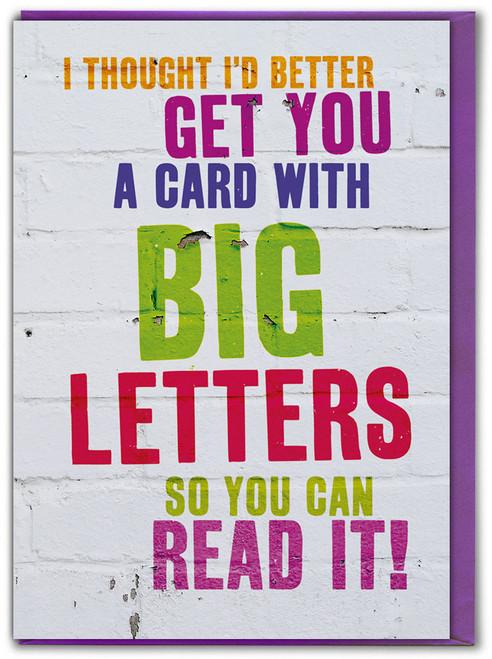 Big Letters Birthday Card