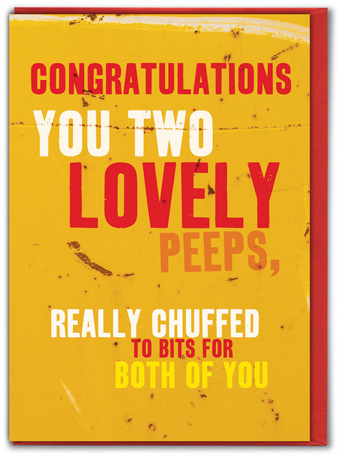 Really Chuffed To Bits Engagement Card