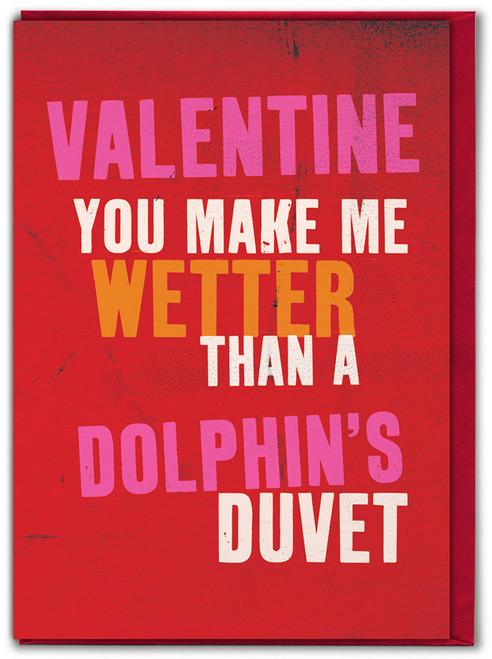 Dolphins Duvet Valentine Card