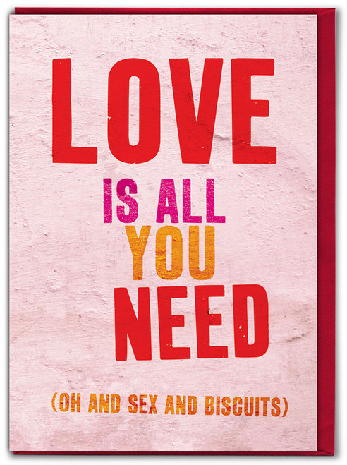 Love Is All You Need Valentine's Day Card